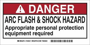 Brady 103531 Arc Flash and Shock Label(Pack of 10)