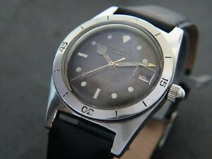VTGE  RARE ARDATH DENIS TROPICAL DIAL DIVER 660 FEET DIVER AUTOMATIC WATCH. 50s
