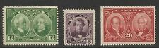 Canada 1927 Historical Issue--Attractive Topical (146-48) MH