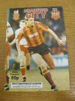 04/10/1989 Bradford City v West Bromwich Albion [Football League Cup] . Thanks f