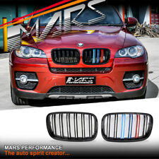 Gloss Black X5M X6M Style Color Stripe Bumper Grille Grill for BMW X5 E70 X6 E71