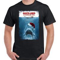 Jaws T-Shirt, Santa Mens Christmas Scuba Diving Unisex Top Movie Xmas Tee Top