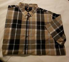 DICKIES Plaid Button Short Sleeve Shirt Men's Size 3XL