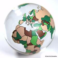 "Enorm 60mm (2.4"") Weltkarte Glaskugel Marble - Detaillierte Planet Earth"