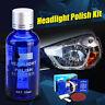 Auto Headlight Lens Restoration Kit Lamp Car Repair Repair Polish Cleaner Tools