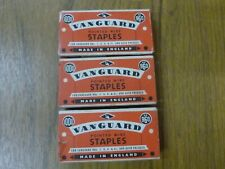 "3 Packets of 1/4"" Vanguard Pointed Wire Staples For Nos. 1 3 4 4a & Autopress"