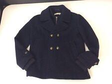 Stella McCartney Navy Blue 80% Lana Wool Military Coat Jacket 8 Years Vgc Unisex