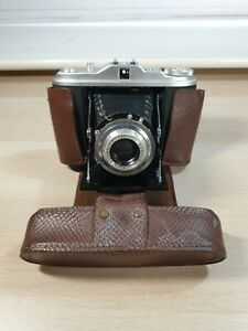 Agfa Isolette I Vintage Camera With Original Leather Case & Folding Bellows Prop