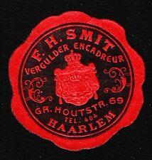 VINTAGE CINDERELLA Netherlands FH Smit Haarlem Coat of Arms Free Tape Remnant I