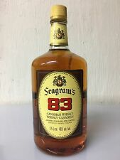 Seagram's 83 Canadian Whisky Ontario 1,75 Liti 40% Vol Anni 90 A.