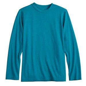 NWT Boys XL Urban Pipeline Tee Blue/Green Awesomely Soft Long Sleeve