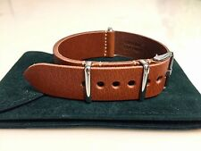 Premium Leather Watch Band Strap BROWN 22mm fits Timex J Crew ZULU Style - USA!