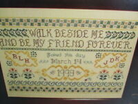 Walk Beside Me Wedding Sampler Cross Stitch Pattern Chart Booklet