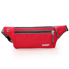 Men Women Outdoor Sport Waist Pack Fanny  Wallet Belt Travel Phone Bag Red bag