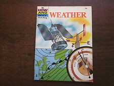 THE HOW AND WHY WONDER BOOK OF WEATHER Vintage 1977 School Reference SC