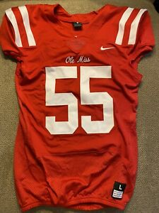 Men's Nike Authentic Team Issued Ole Miss Rebels Jersey Large L *rare