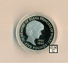 1999 £5 Great Britain Princess Diana Memorial Sterling Silver Proof Coin (OOAK)