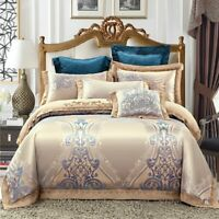 Luxury Bedding Set King Queen Size Bed Linen silk Cotton Duvet Cover Bed Sheet