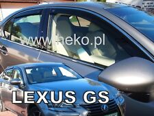 LEXUS GS IV 4 door 2012-up  wind deflectors 4pc set TINTED HEKO