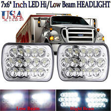 """7x6"""" LED Headlight DRL Lamps For Ford Super Duty Truck F550 F600 F650 F700 F750"""