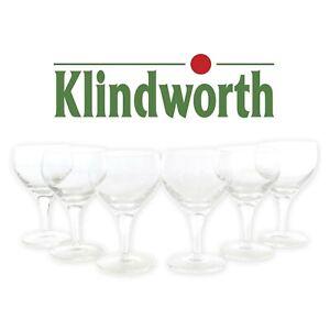 6 KLINDWORTH Gläser Set 18 cl Trink Kristall Glas Wasser Kelch Saft ~mn243 1044