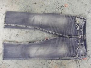 "Womens Silver Jeans Suki 17"" Boot Flap Pocket Size 33x31"