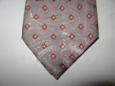 OAKTON 57 x 3.25 Gray Red Necktie Tie (13142) Free US Ship