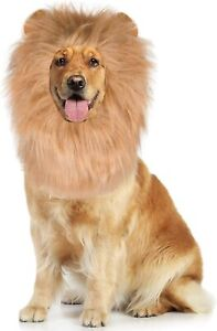 Lions Mane Pet Costume with Tail for for Medium or Large Dogs