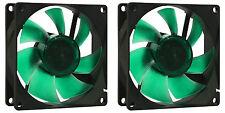 2 x Nanoxia 80mm Deep Silence Quiet PC Case Fans 1200 RPM, 15.8 CMF, 13.6 dBA