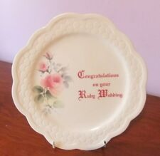 Ruby Wedding Plate by Donegal Parian China. Excellent Condition.