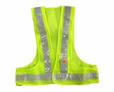 AidrPro LED Light Safety Vest with Reflective Stripes - Green