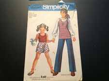 VINTAGE SIMPLICITY #9294 PATTERN GIRLS SIZE 10 TUNIC/TOP, SCOOTER, SKIRT & PANTS