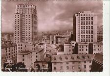 vecchia cartolina di genova i grattacieli e porta soprana difetti in basso