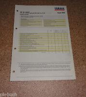 Inspektionsblatt Yamaha Ye 50 Zest Tipo 4FW Anno 1993