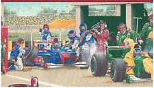 NASCAR PIT STOP CAMERA RECORD CHANGE WHEELS AND GO! Wallpaper bordeR Wall Decor