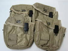 LOT of 4 NEW US ARMY CARRY POUCHES & SHOULDER STRAPS
