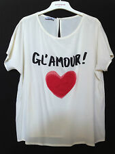 RRP $340 MOSCHINO GL'AMOUR SILK BLOUSE TOP last