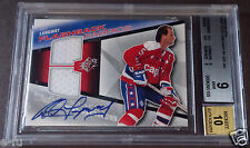 2008-09 SPX ROD LANGWAY Game Used Dual Capitals Jersey BGS 9 Auto 10 Pop 1/1