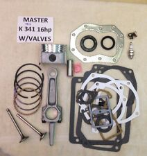 ENGINE REBUILD MASTER KIT W/Valves FOR KOHLER K341 16HP M16 w/16hp rod not 12hp