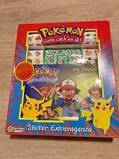 Vintage 1999 Sandylion Pokemon Sticker Extravaganza over 190 Stickers NEW