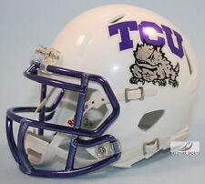 TCU HORNED FROGS (WHITE CHROME) Riddell Speed Mini Helmet