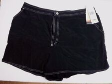 Beach House Size 18 W Black Board Shorts New Womens Bathing Suits