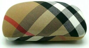 BURBERRY Eyeglasses Sunglasses Hard Case Plaid Clamshell Fabric Authentic Italy