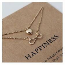 Sparkling Infinite Love Heart Pendant Multilayer Necklace