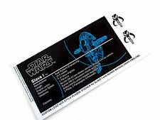 CUSTOM PLAQUE STICKERS for STAR WARS SLAVE 1, LEGO 6209 8097 75060 ,DISPLAYS,ETC