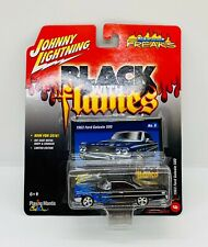 Johnny Lightning 1963 Ford Galaxie 500 Black With (BLUE) Flames 1/64 NEW