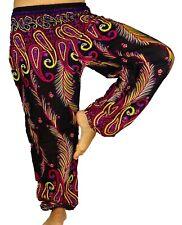Sarouel Femme Pantalon Ethnique Aladin Harem Pant Aladdin yoga noir