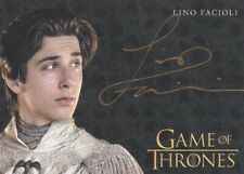 Game of Thrones Season 8 Autograph Card signed by Lino Facioli