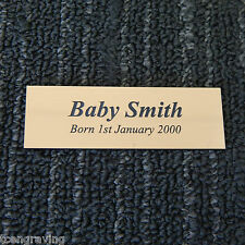 Baby Plaque/ Photo Frame Plaque 75mmx25mm Laser Engraved Custom made40