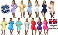Children's Personalised Wedding Robe Dressing Gown Kids 22 Colours Flower Girl